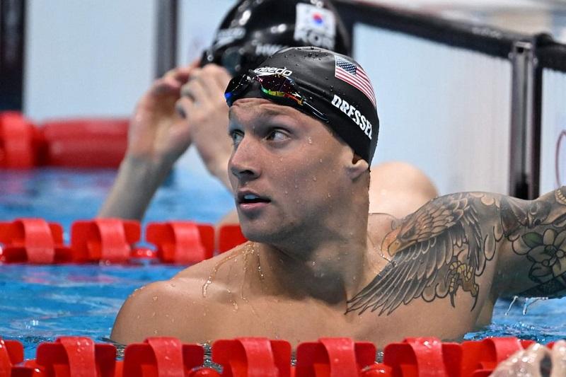 टोकियो ओलम्पिकमा अमेरिकन पौडी खेलाडी ड्रेसलको विश्व कीर्तिमान